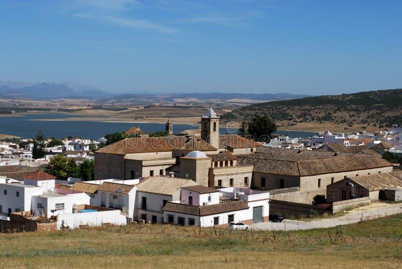 χωριό της Ανδαλουσίας bornos Ισπανία που ασπρίζεται στοκ φωτογραφία με δικαίωμα ελεύθερης χρήσης