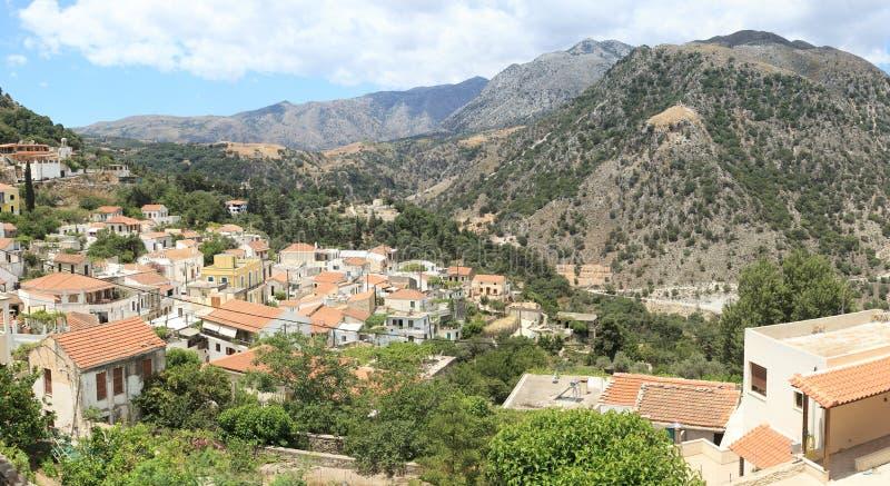 χωριό της Κρήτης argiroupolis στοκ φωτογραφία