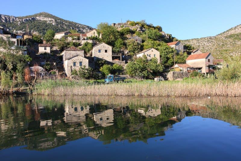 Χωριό ψαράδων, Μαυροβούνιο στοκ φωτογραφία