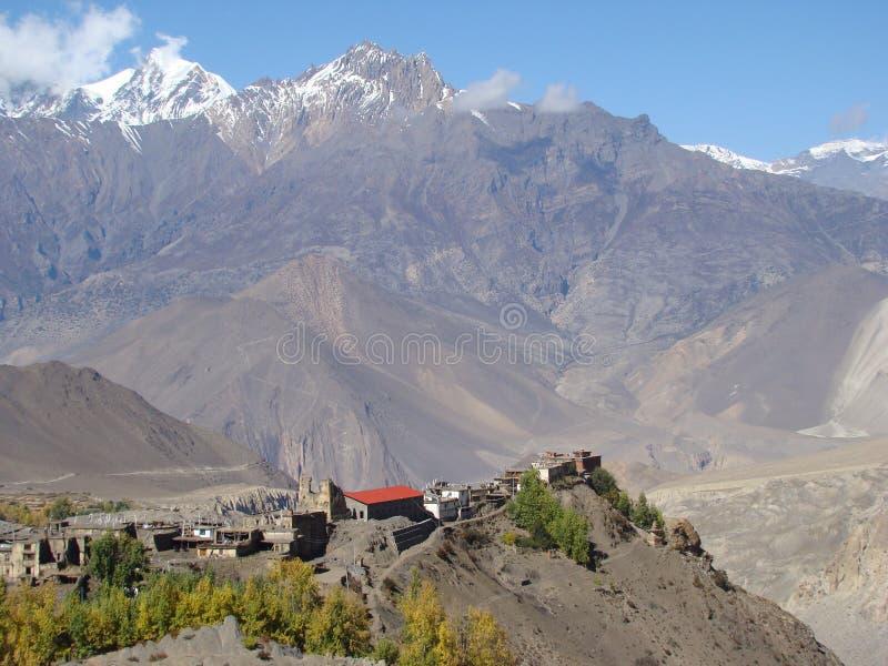 χωριό όψης μοναστηριών στοκ εικόνα με δικαίωμα ελεύθερης χρήσης