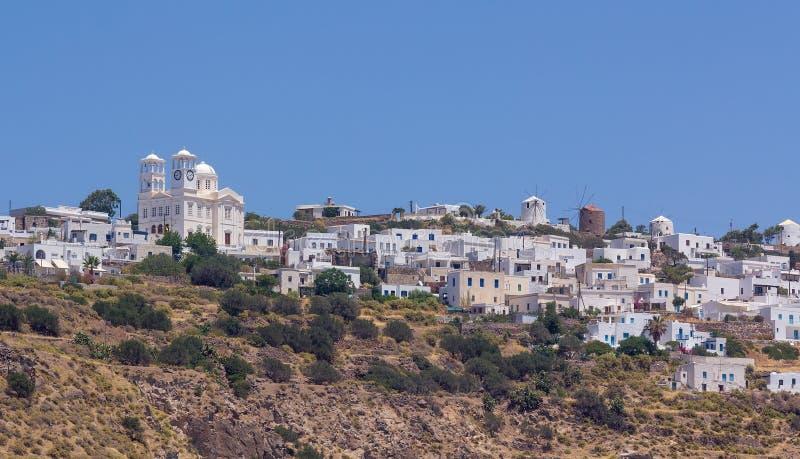 χωριό όψης tripiti milos νησιών της Ελλάδας στοκ εικόνες