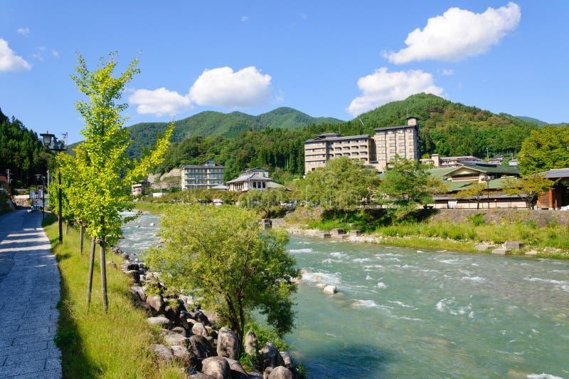 Χωριό Achi στο Ναγκάνο, Ιαπωνία στοκ εικόνα
