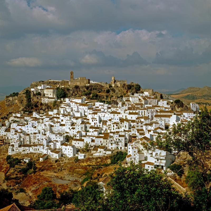 Χωριό Casares σε Andaluzia, Ισπανία στοκ φωτογραφία με δικαίωμα ελεύθερης χρήσης