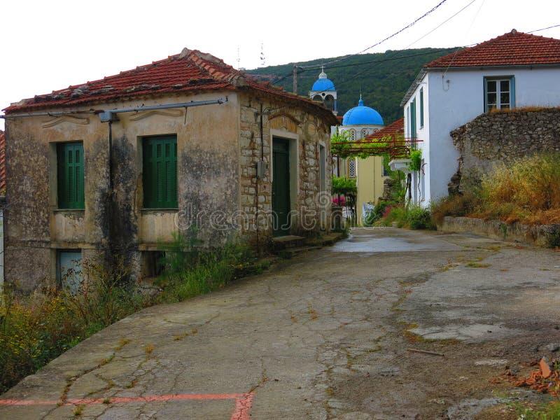 Χωριό Exoghi, νησί Ithaca, Ελλάδα στοκ φωτογραφίες με δικαίωμα ελεύθερης χρήσης