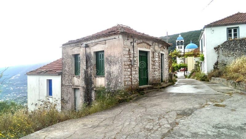 Χωριό Exoghi στην Ελλάδα στοκ φωτογραφία με δικαίωμα ελεύθερης χρήσης