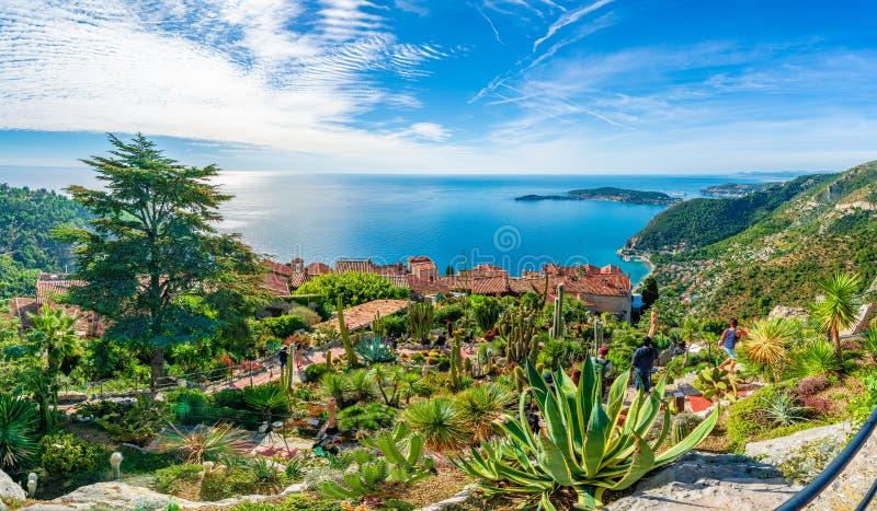 """Χωριό Eze στη γαλλική ακτή Riviera, υπόστεγο δ """"Azur, Γαλλία στοκ φωτογραφία με δικαίωμα ελεύθερης χρήσης"""