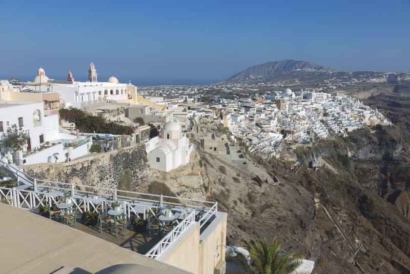 Χωριό Fira Santorini, Κυκλάδες, Αιγαίο πέλαγος, ελληνικό νησί, Ελλάδα στοκ φωτογραφία με δικαίωμα ελεύθερης χρήσης