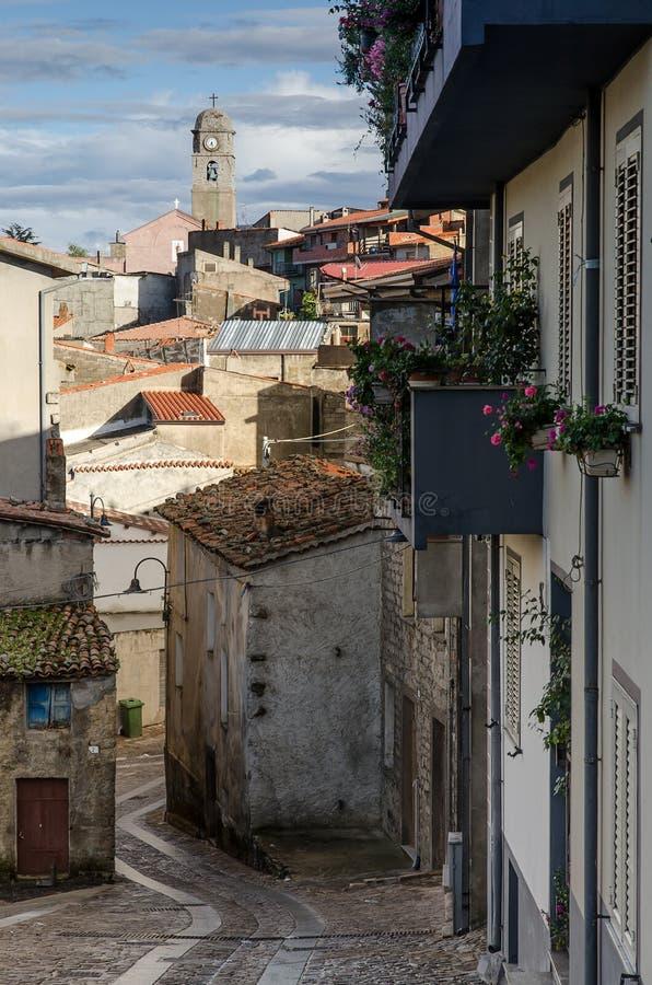 Χωριό Fonni, Σαρδηνία, Ιταλία στοκ εικόνα με δικαίωμα ελεύθερης χρήσης