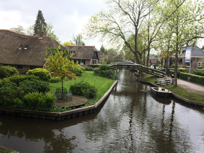 Χωριό Giethoorn, Βενετία των Κάτω Χωρών στοκ εικόνες