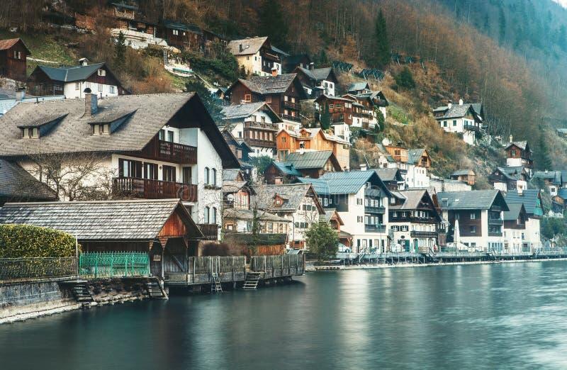 Χωριό Hallstatt στην Άνω Αυστρία στοκ φωτογραφία