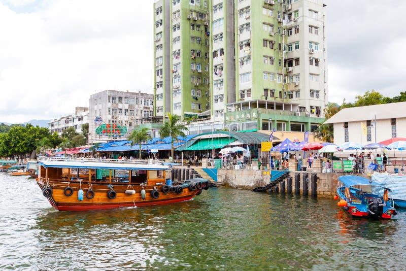 Χωριό Kung Sai στο Χονγκ Κονγκ στοκ φωτογραφία με δικαίωμα ελεύθερης χρήσης