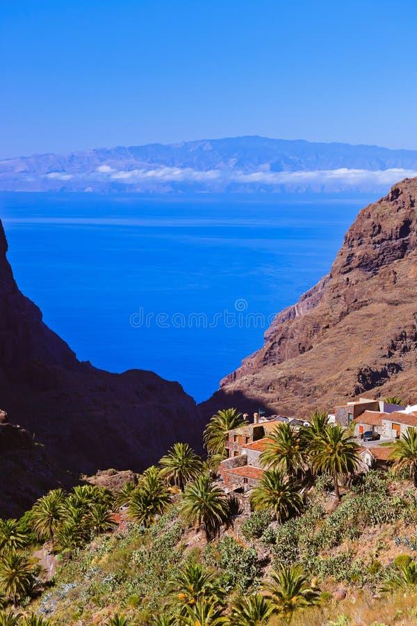 Χωριό Masca Tenerife στο νησί - καναρίνι στοκ εικόνες με δικαίωμα ελεύθερης χρήσης