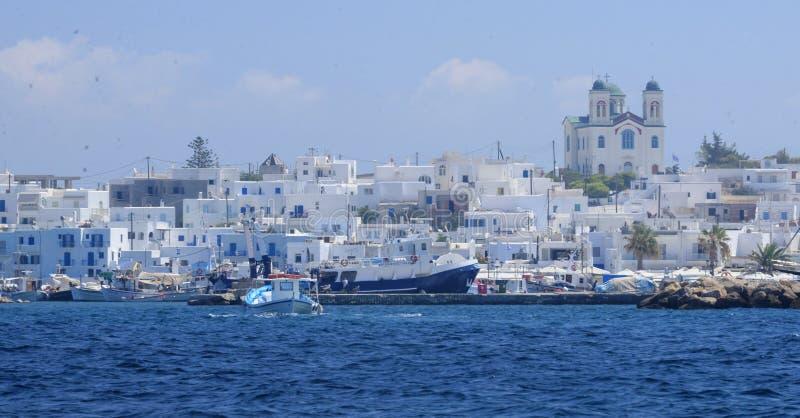 Χωριό Naoussa στην Ελλάδα στοκ φωτογραφία