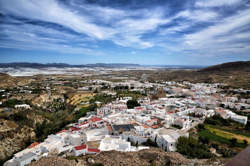 Χωριό Nijar, επαρχία της Αλμερία, Ανδαλουσία, Ισπανία στοκ φωτογραφία