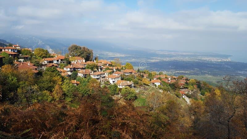 Χωριό Panteleimonas Palaios στο βουνό Olympus στοκ εικόνες με δικαίωμα ελεύθερης χρήσης