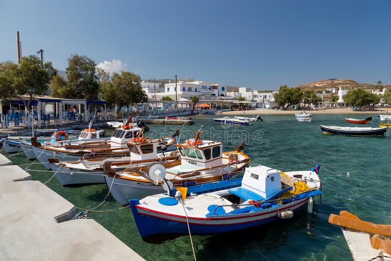 χωριό pollonia milos νησιών των Κυκλάδων Ελλάδα στοκ εικόνες