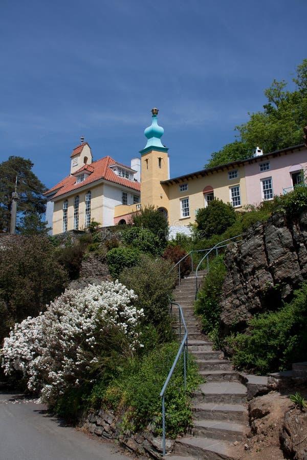 χωριό portmeirion στοκ εικόνες
