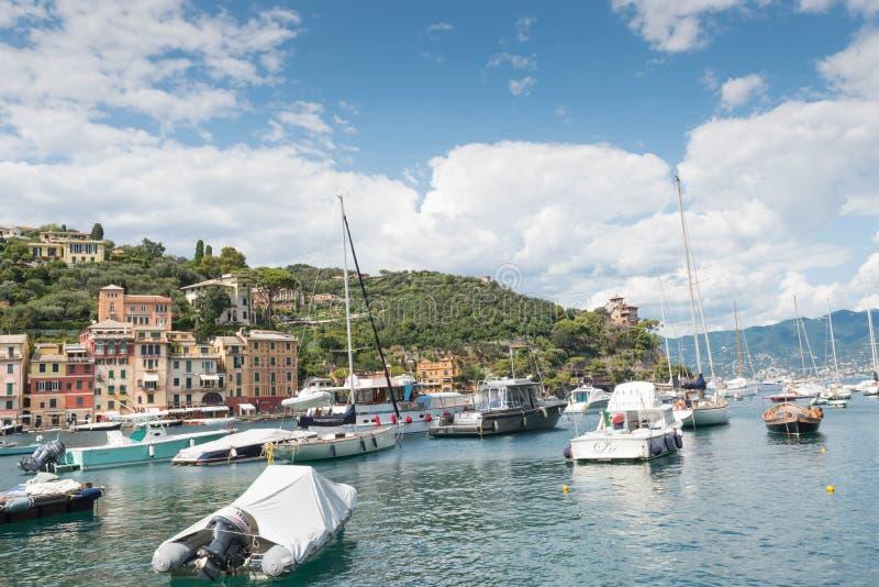 Χωριό Portofino, Ιταλία στοκ φωτογραφίες με δικαίωμα ελεύθερης χρήσης