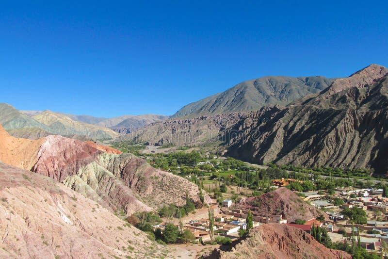 Χωριό Purmamarca σε Quebrada Humahuaca στοκ φωτογραφίες