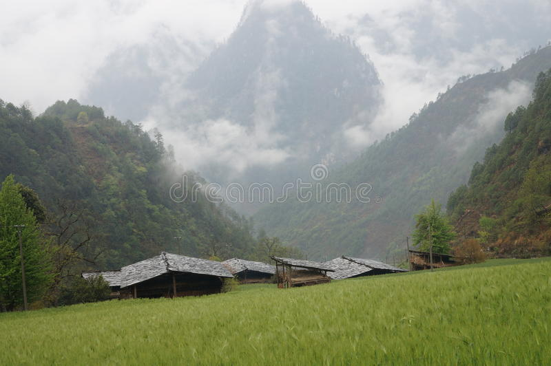 Χωριό Qiunatong στοκ εικόνα