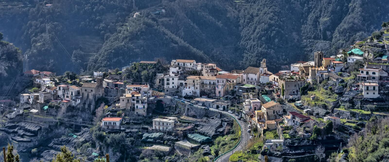 Χωριό Scala, από την ακτή της Αμάλφης, Ιταλία στοκ εικόνες με δικαίωμα ελεύθερης χρήσης