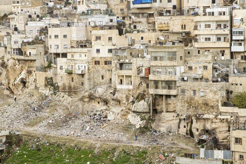Χωριό Silwan στην Ιερουσαλήμ στοκ εικόνες