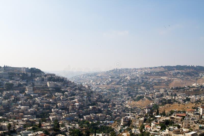 Χωριό Silwan στην Ιερουσαλήμ στοκ εικόνα