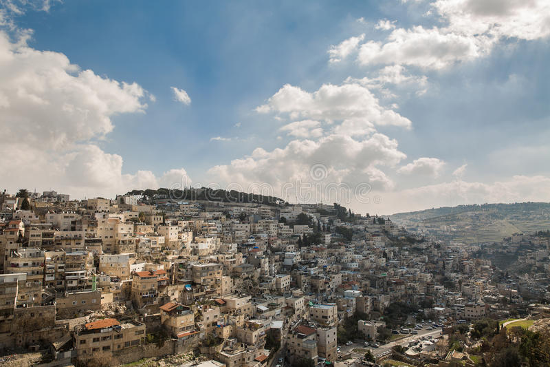 Χωριό Silwan στην Ιερουσαλήμ στοκ φωτογραφία με δικαίωμα ελεύθερης χρήσης