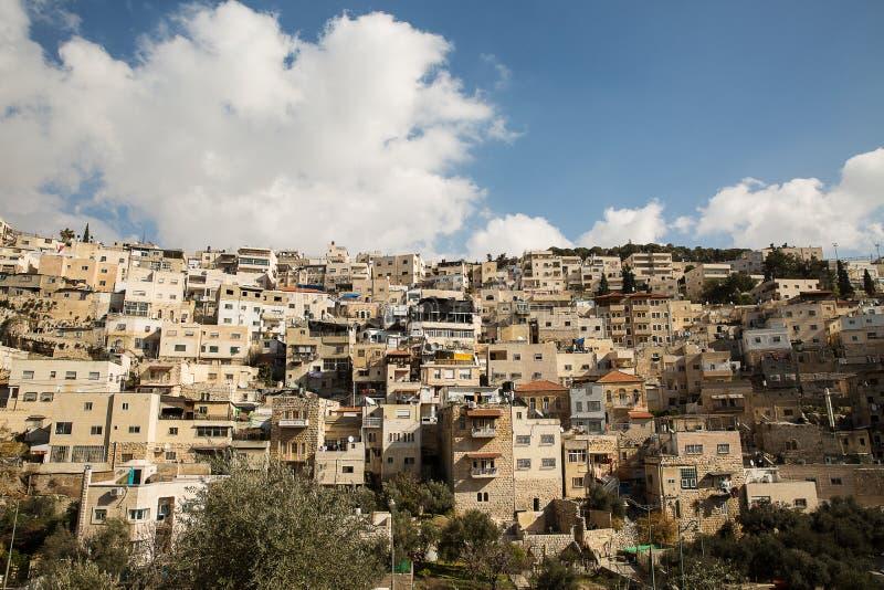 Χωριό Silwan στην Ιερουσαλήμ στοκ εικόνα με δικαίωμα ελεύθερης χρήσης