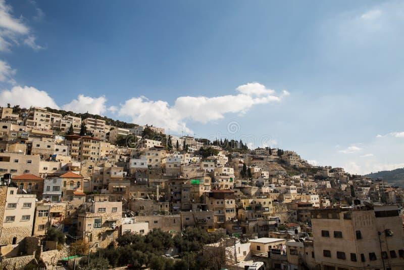 Χωριό Silwan στην Ιερουσαλήμ στοκ εικόνες με δικαίωμα ελεύθερης χρήσης