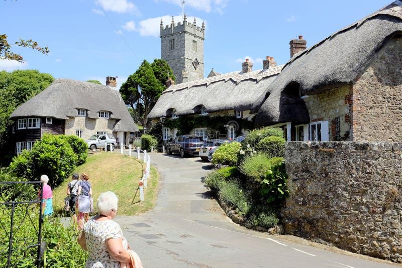 Χωριό thatch, Godshill, Isle of Wight, UK στοκ εικόνα με δικαίωμα ελεύθερης χρήσης