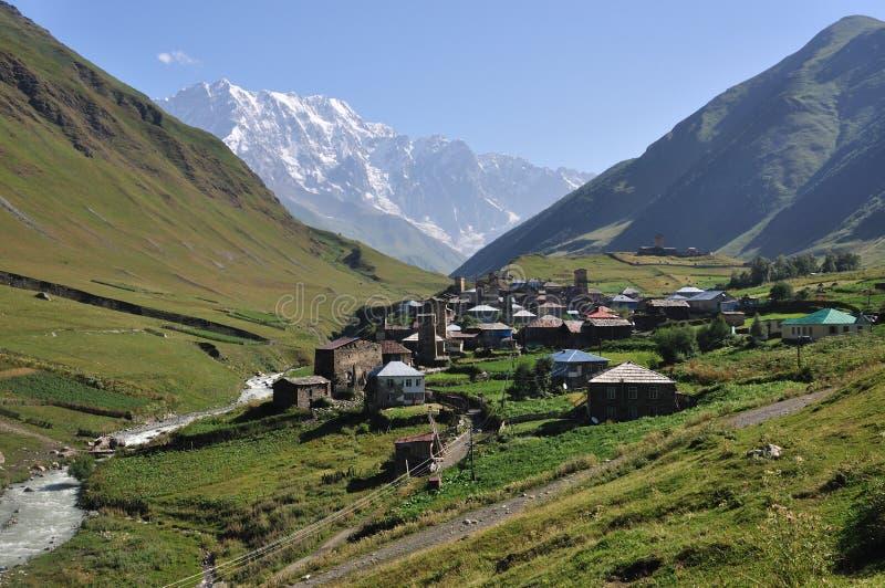 χωριό usghuli svaneti της Γεωργίας στοκ φωτογραφία με δικαίωμα ελεύθερης χρήσης