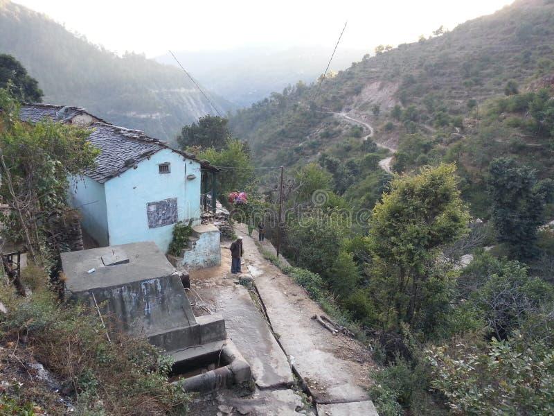 Χωριό Uttarakhand Ινδία στοκ φωτογραφίες με δικαίωμα ελεύθερης χρήσης