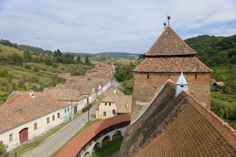 Χωριό Valea Viilor, Τρανσυλβανία, Ρουμανία στοκ εικόνες