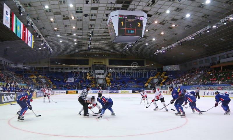 Χόκεϋ 2017 παγκόσμιο πρωτάθλημα Div 1 πάγου σε Kyiv, Ουκρανία στοκ εικόνες με δικαίωμα ελεύθερης χρήσης