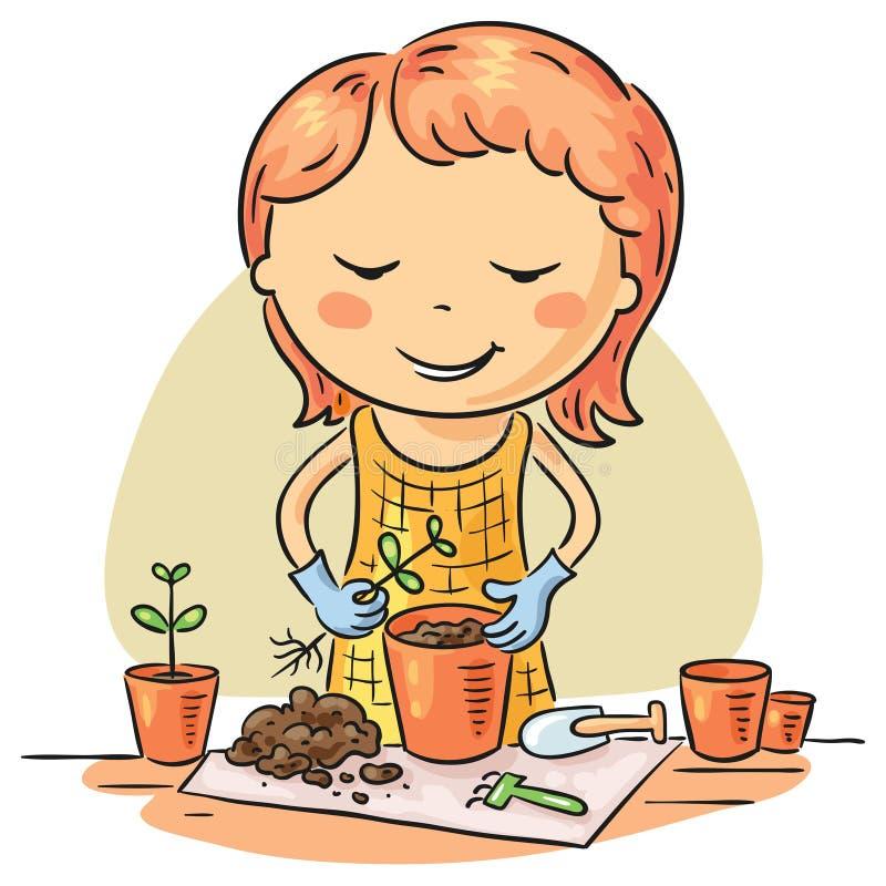 Χόμπι κηπουρικής ελεύθερη απεικόνιση δικαιώματος