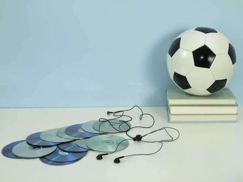 Χόμπι: μουσική και ποδόσφαιρο στοκ εικόνες με δικαίωμα ελεύθερης χρήσης
