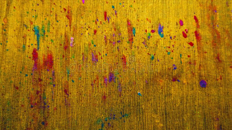 Χύσιμο μελανιού στον ξύλινο πίνακα Φωτεινά κτυπήματα Έργο τέχνης χυσιμάτων μελανιού Ξηρά επιφάνεια μελάνωσης στοκ εικόνες
