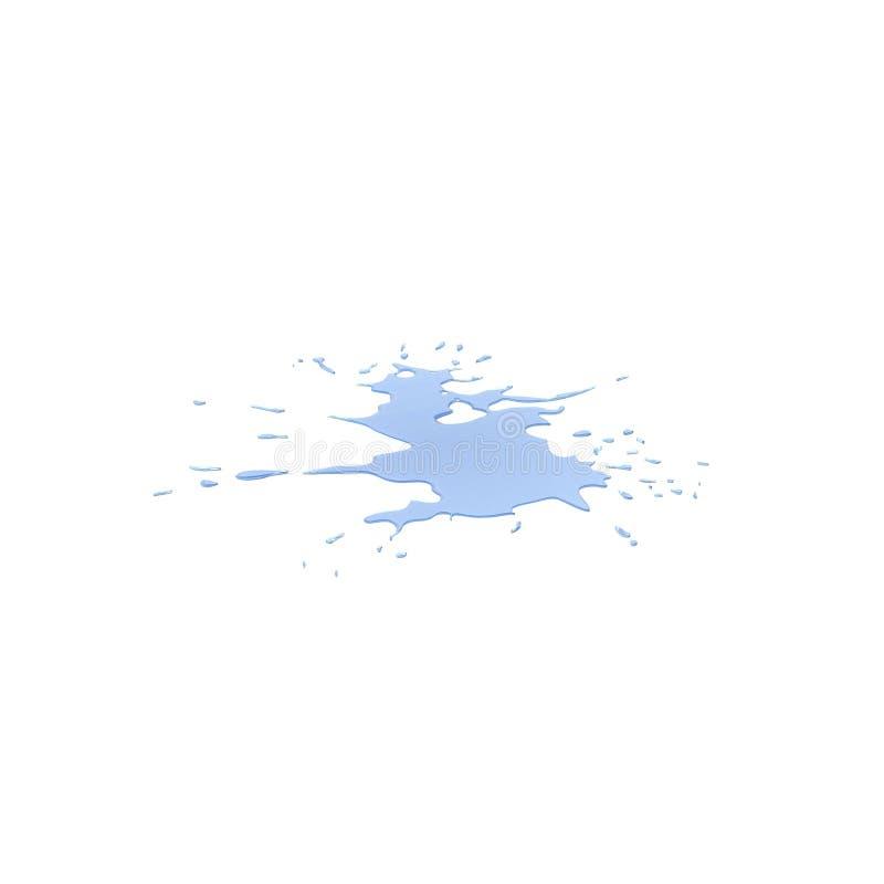 Χύσιμο νερού στο λευκό τρισδιάστατη απεικόνιση διανυσματική απεικόνιση