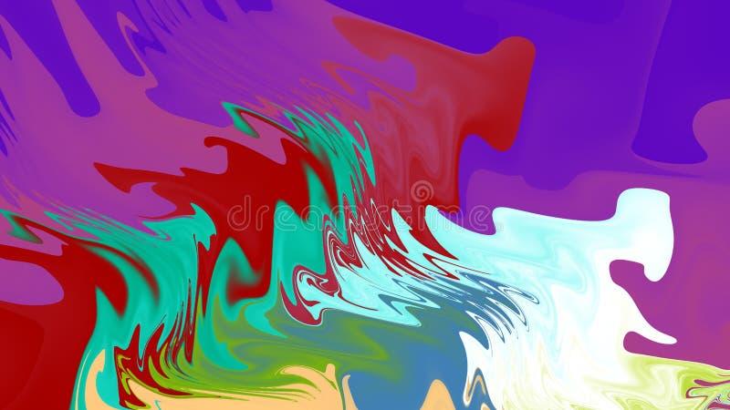 Χύσιμο χρωμάτων ευρύ διανυσματική απεικόνιση