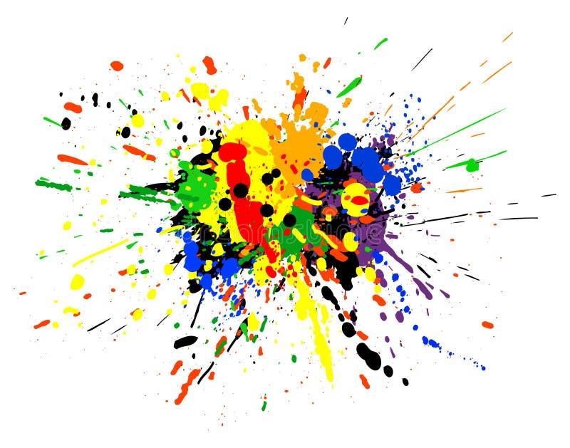 χύσιμο χρωμάτων διανυσματική απεικόνιση