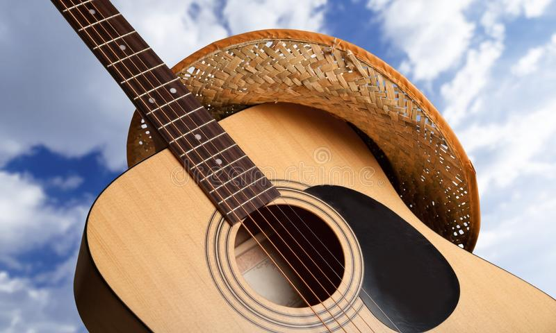Χώρα και δυτική μουσική στοκ εικόνα