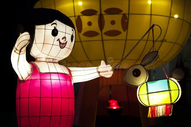 Χώρα των θαυμάτων φαναριών φεστιβάλ μέσος-φθινοπώρου στο Βικτόρια Παρκ, Hong Ko στοκ φωτογραφία με δικαίωμα ελεύθερης χρήσης