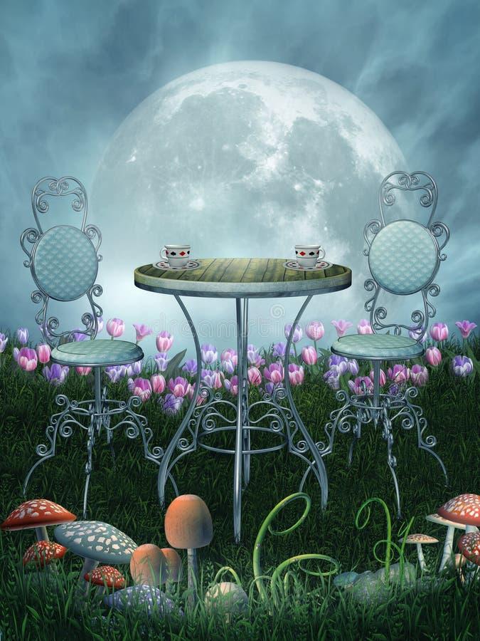 χώρα των θαυμάτων φαντασία&sigma απεικόνιση αποθεμάτων