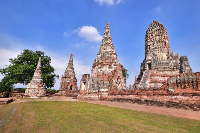 Χώρος λατρείας, Wat Chaiwatthanaram σε Ayutthaya, Ταϊλάνδη στοκ εικόνες με δικαίωμα ελεύθερης χρήσης