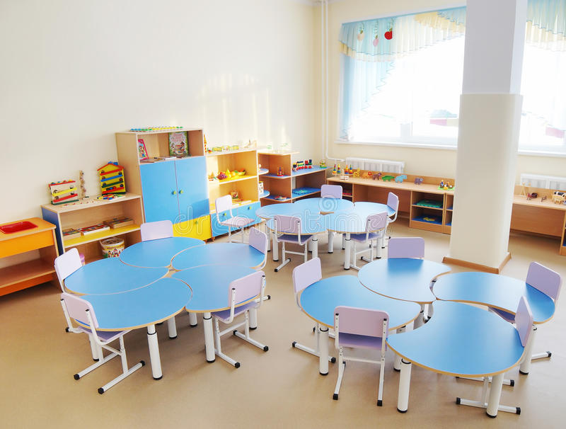Χώρος για παιχνίδη σε έναν παιδικό σταθμό στοκ φωτογραφία με δικαίωμα ελεύθερης χρήσης