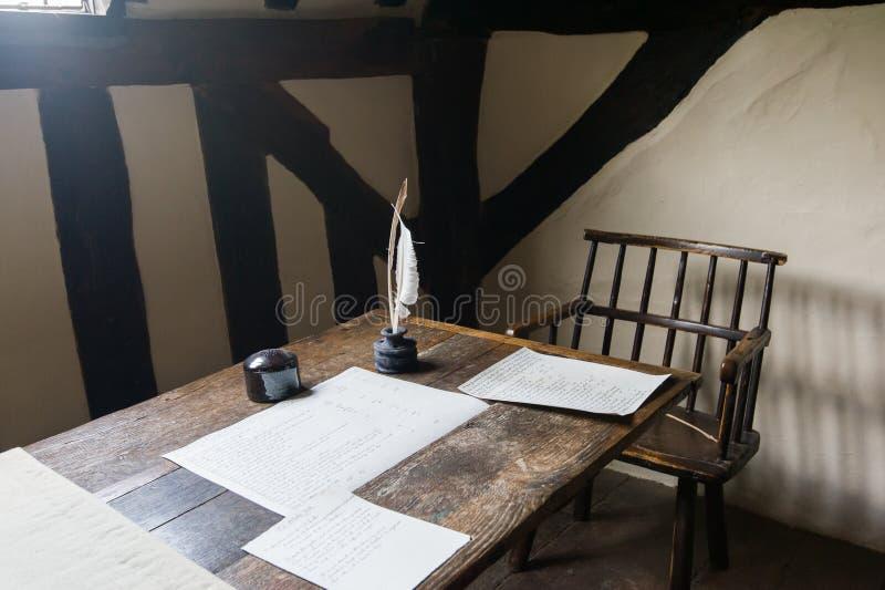 Χώρος εργασίας συγγραφέων στοκ φωτογραφία με δικαίωμα ελεύθερης χρήσης