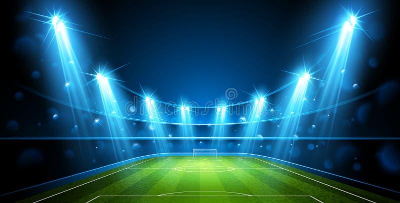 Χώρος ποδοσφαίρου διάνυσμα διανυσματική απεικόνιση