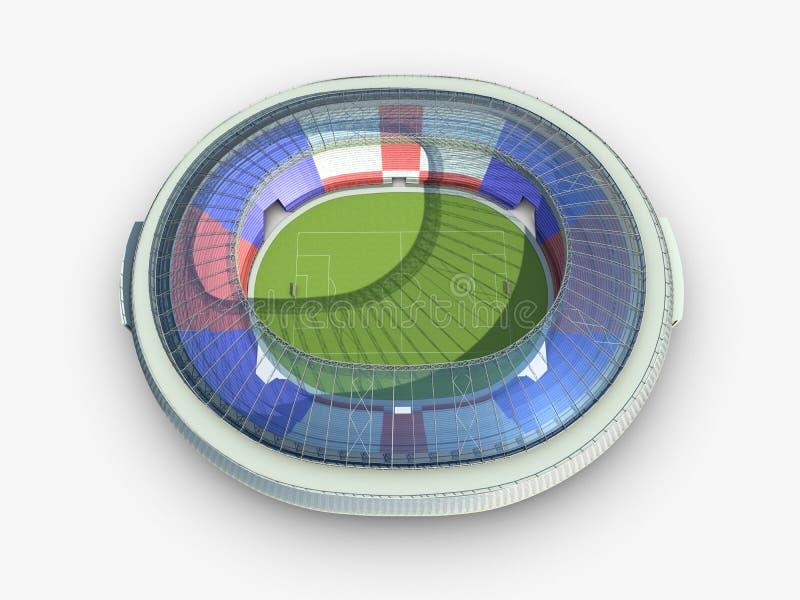 Χώρος ποδοσφαίρου στην άσπρη ανασκόπηση ελεύθερη απεικόνιση δικαιώματος