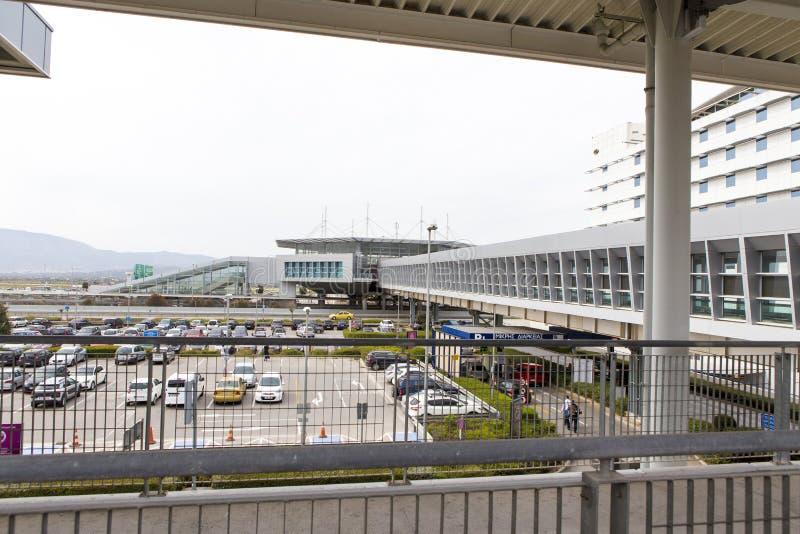 Χώρος στάθμευσης αερολιμένων της Αθήνας στοκ φωτογραφίες με δικαίωμα ελεύθερης χρήσης